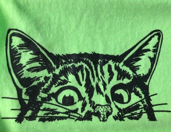 Green Cat Tshirt