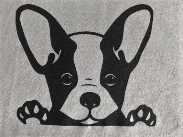 White Adopt dog Tshirt