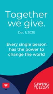 Together we give giving tuesday