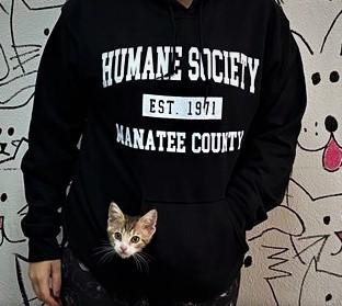 black humane society hoodie